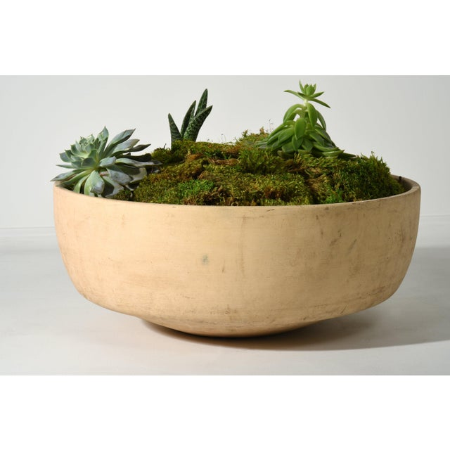 """Tan JOHN FOLLIS BISQUE PLANTER FOR ARCHITECTURAL POTTERY 21"""" PLANTER, 1960S For Sale - Image 8 of 9"""