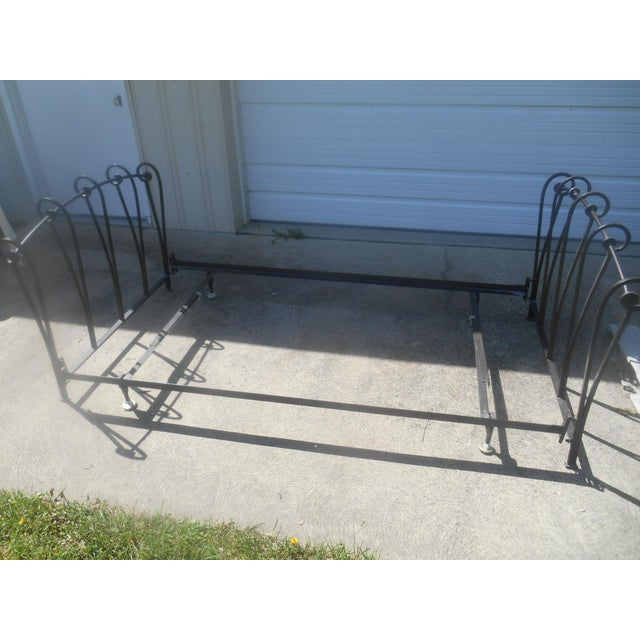 Wrought Iron Sleigh Twin Bed Frame - Image 9 of 10