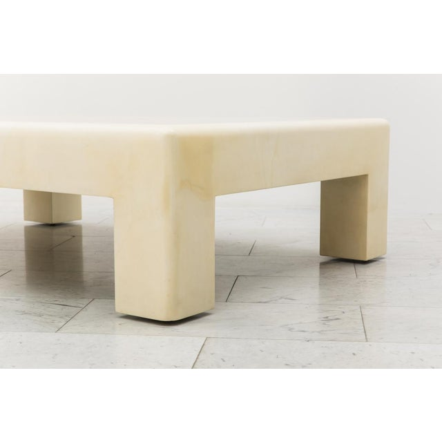 Modern Lacquered Goatskin Low Table, Usa For Sale - Image 3 of 7