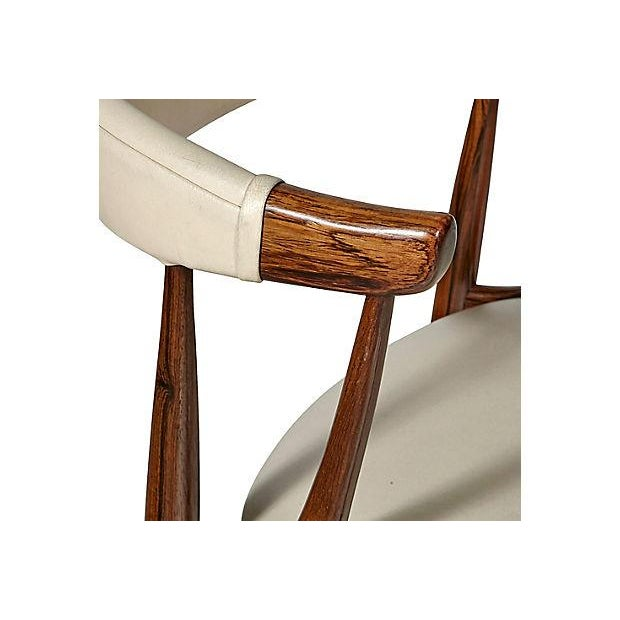 Danish Rosewood & Leather Dining Chairs - Image 7 of 12