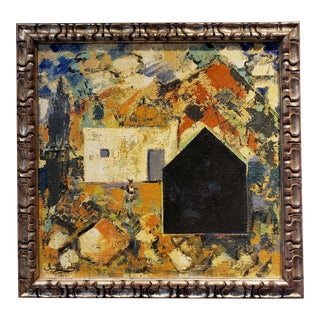 House in Southern Spain Landscape by Artist Jacques Lamy For Sale