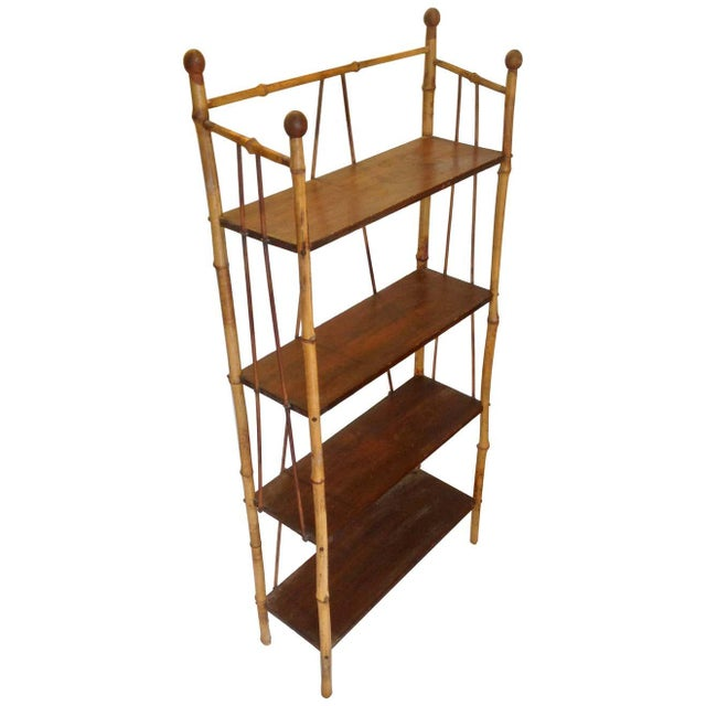 19th Century English Bamboo Bookstand / Étagère For Sale - Image 13 of 13