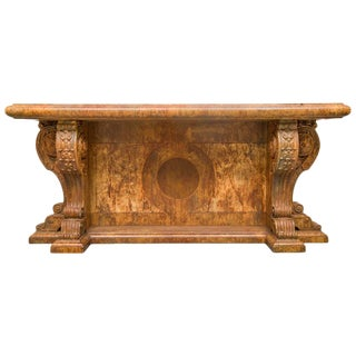 Faux Marble Italian Renaissance Style Console For Sale