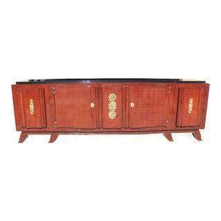 Circa 1935s Jules Leleu French Art Deco Rosewood Sideboard