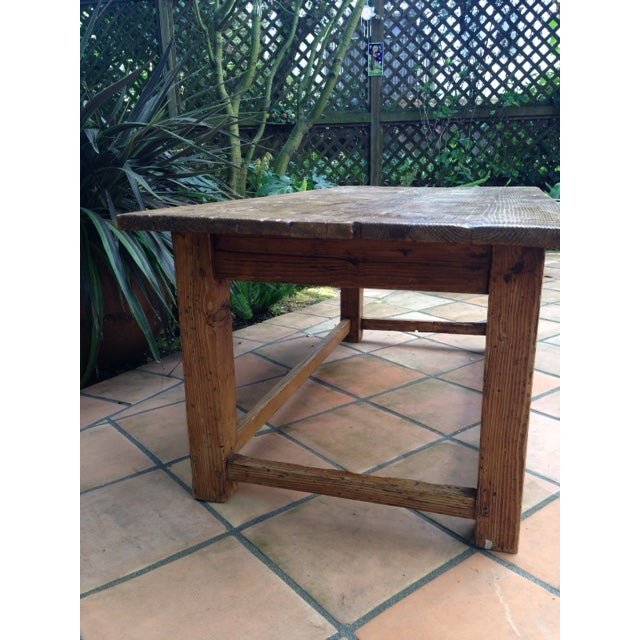French Antique Pine Coffee Table - Image 4 of 5