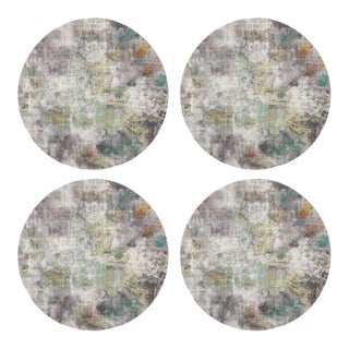 "Impressionism Fall, 16"" Round Pebble Placemats, Set of 4 For Sale"