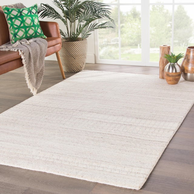 2010s Jaipur Living Hermitage Hand-Knotted Trellis Ivory & Silver Area Rug - 5′ × 8′ For Sale - Image 5 of 6