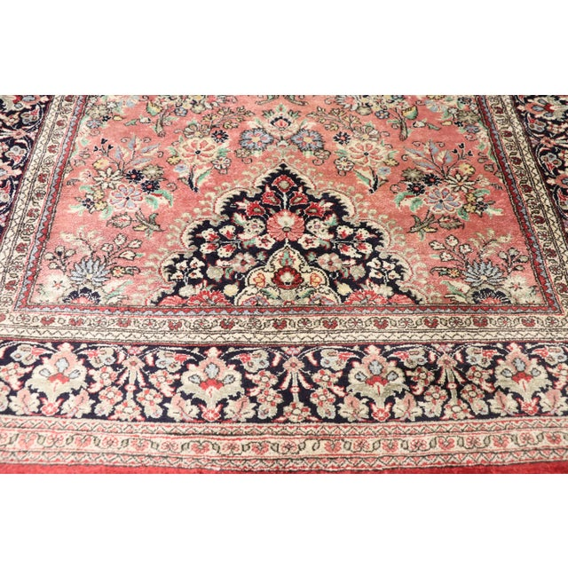 Late 20th Century Vintage Persian Qum Silk Runner With Romantic French Rococo Style - 2'9 X 13'2 For Sale - Image 5 of 10