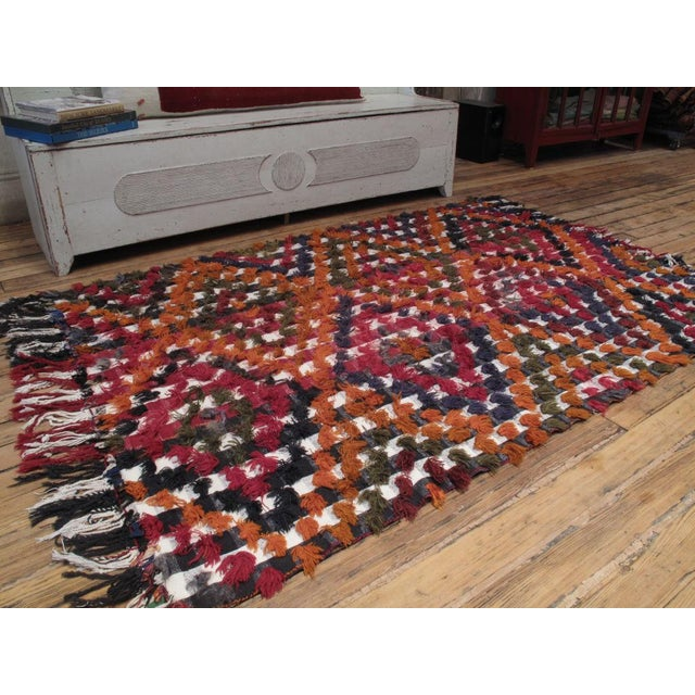 A really fun tribal cover by Kurdish weavers. Can be used on the floor, but also as a hanging or as a bedspread.