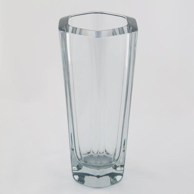 Superb 1950s Vintage Strombergshyttan Glass Vase Decaso