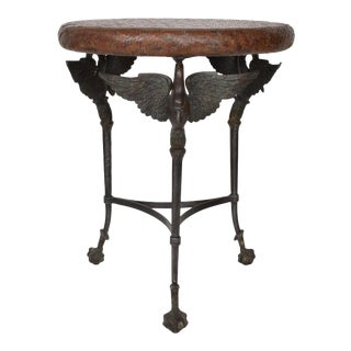 Maitland-Smith Hollywood Regency Bronze End Table Giacometti Era For Sale