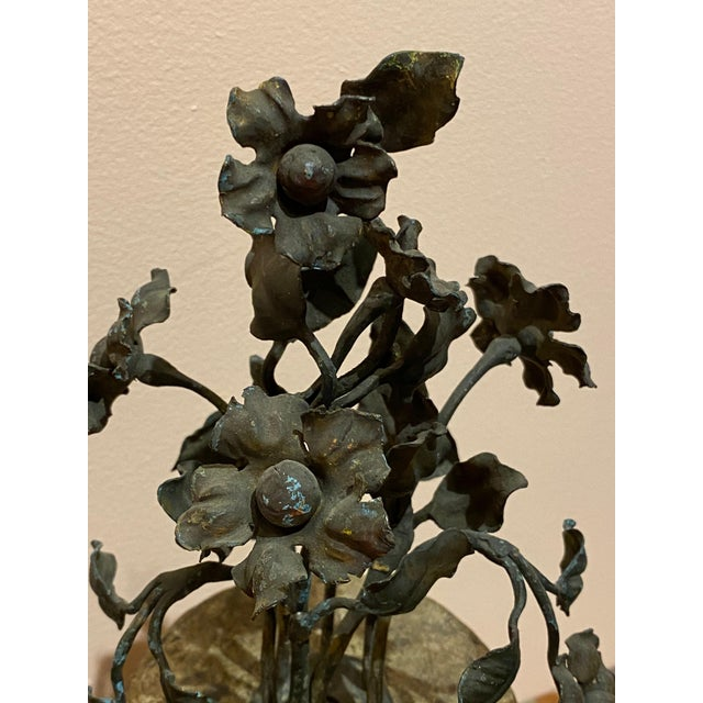 19th Century 19th Century Finials With Iron Decoration - a Pair For Sale - Image 5 of 7