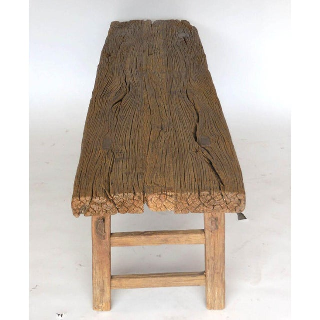 19th Century Elm Bench For Sale - Image 4 of 6