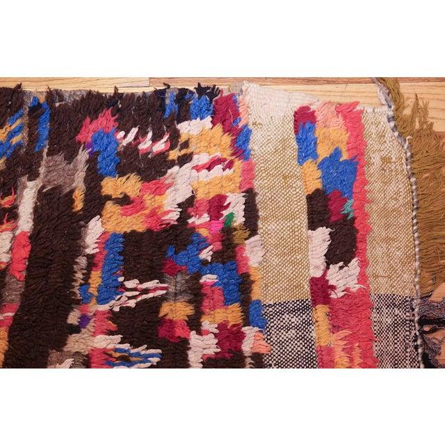 Mid-Century Vintage Folk Art Moroccan Rug - 4′9″ × 10′4″ For Sale - Image 9 of 10