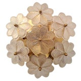 Image of 1950s Mid-Century Modern Austrian Glass Ceiling Light For Sale