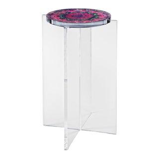 Organic ModernSigned Hand Made Acrylic Mandala Side Table