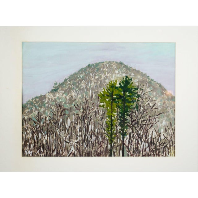 Hear those mountain tops sing a somber song with this impressionist style watercolor painting. This work depicts a...