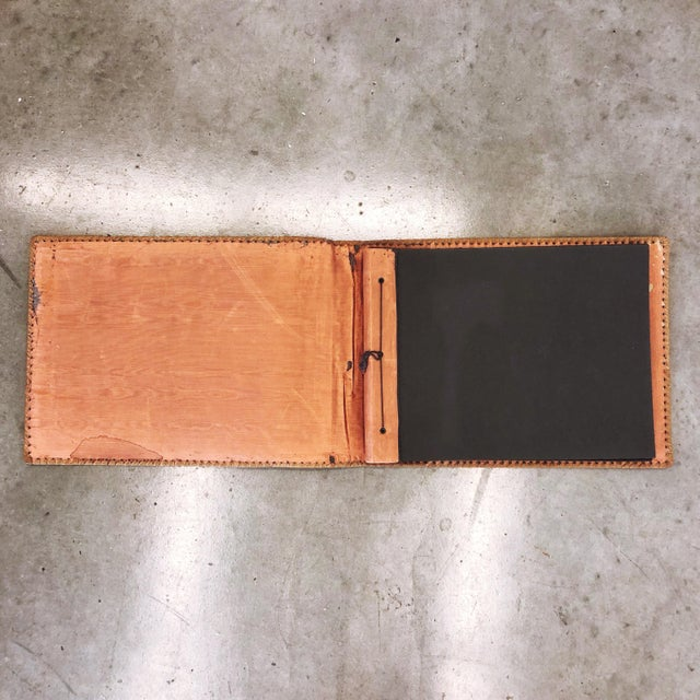 Antique Tooled Leather Memory Book For Sale In Austin - Image 6 of 10