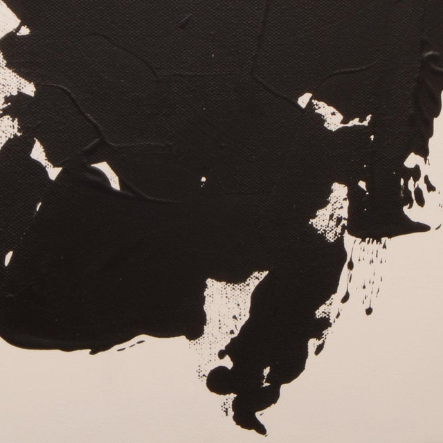 Original Black and White Abstract Painting on Gallery Wrapped Canvas For Sale In Dallas - Image 6 of 7