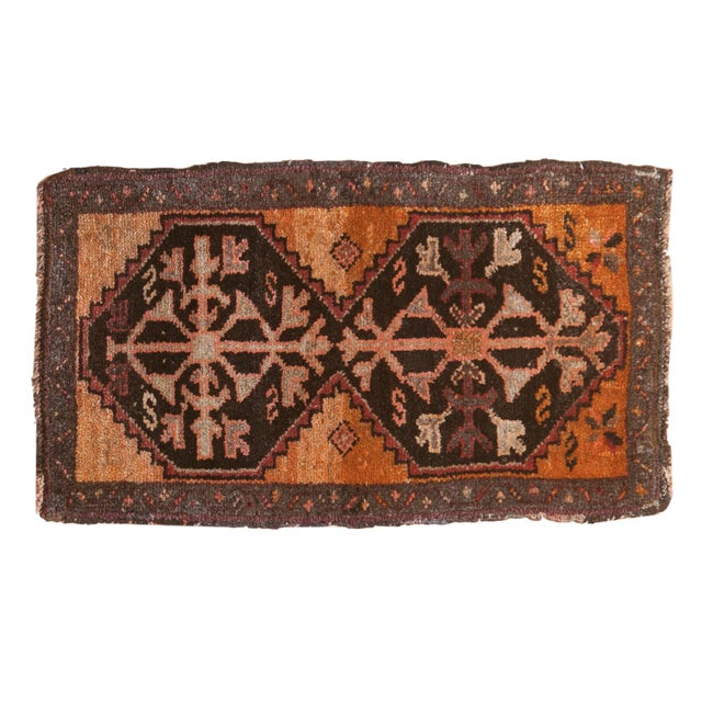"Vintage Oushak Rug Mat - 1'8"" X 2'11"" For Sale In New York - Image 6 of 6"