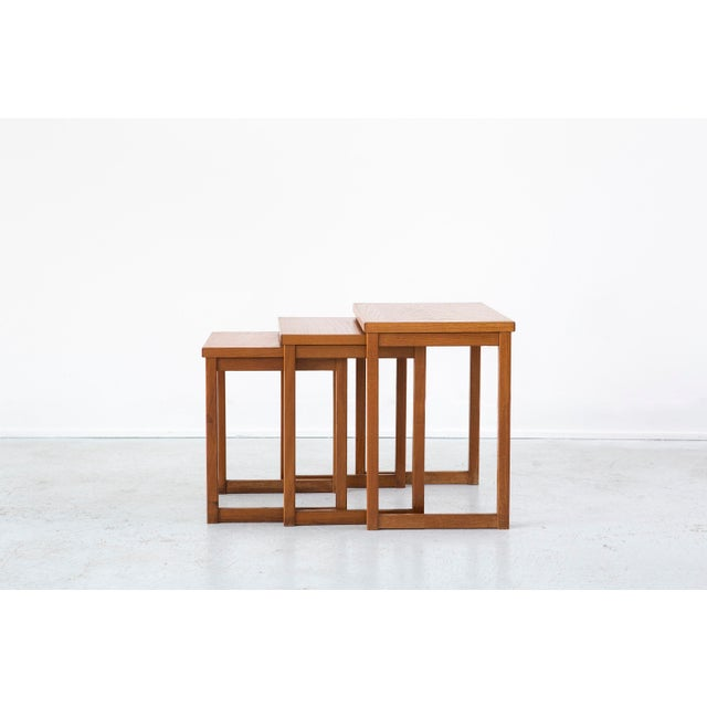 Early 20th Century Kai Kristiansen Nesting Tables For Sale - Image 5 of 8