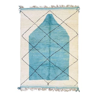 1990s Moroccan Beni Ourain Rug-8′3″ × 11′4″ For Sale
