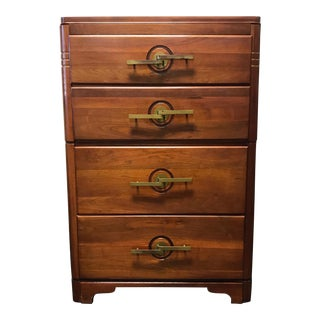 Vintage Walnut Art Deco Chest of Drawers