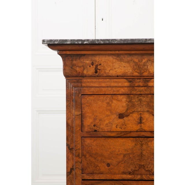 Brown French 19th Century Louis Philippe Walnut Commode For Sale - Image 8 of 12