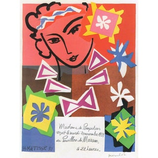 "Henri Matisse Vintage 1989 Lithograph Print "" Bal Arts Decoratifs Mourlot "" 1951 For Sale"