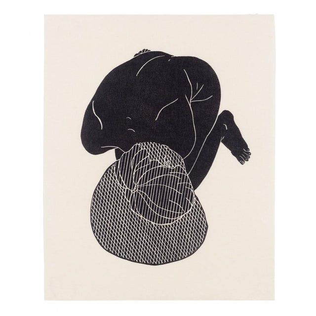 Abstract Christian Johnson Untitled, 2016 Linocut Print For Sale - Image 3 of 3