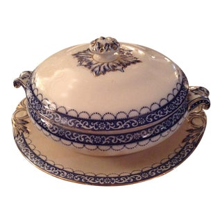 """Melba"" Covered Tureen With Service Plate by F Winkle & Co. Ltd For Sale"