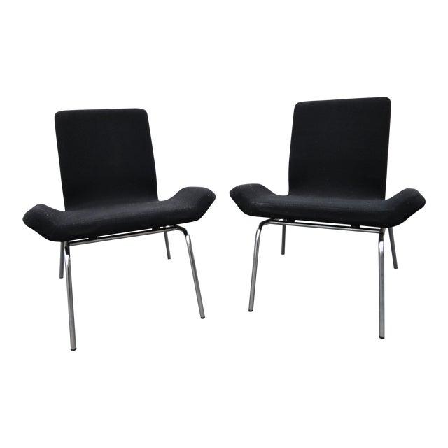 Swedish Modern Bjorn Dahlstrom Cbi Gondola Lounge Chairs - A Pair For Sale