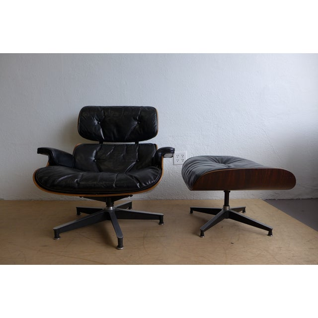 Eames 670/671 Leather Lounge Chair For Sale - Image 9 of 9