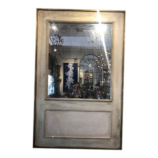 French Antiqued Mirror For Sale