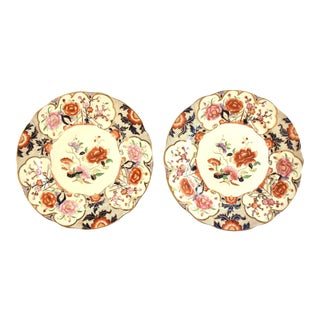 "19th-Century Antique English Imari ""Siva"" Plates - a Pair For Sale"