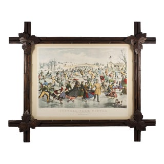 Black Forest Style Frame With Vintage Print