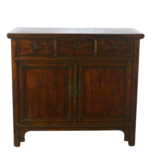 Countryside Three-Drawer Chinese Cabinet For Sale