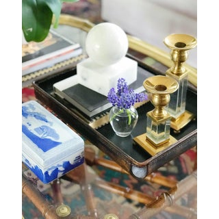 Brass and Lucite Candleholders, S/3 Preview