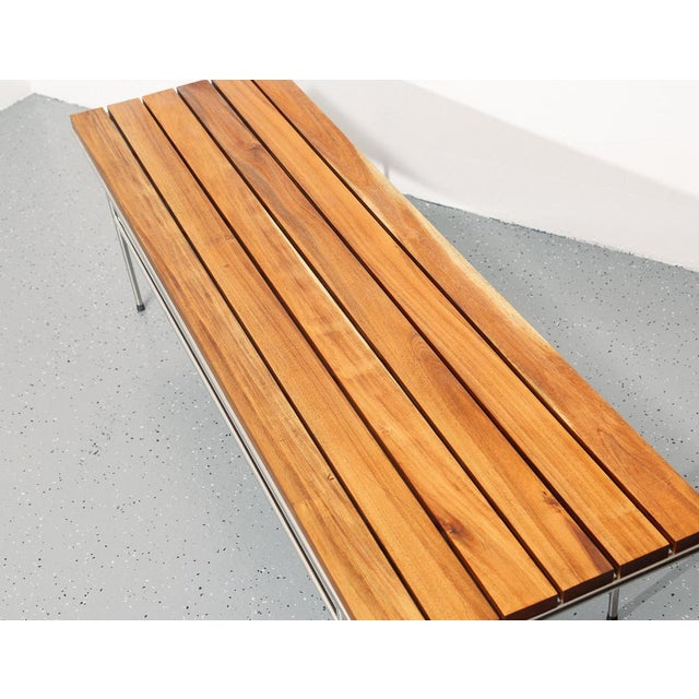 Slatted Coffee Table / Bench For Sale - Image 4 of 6