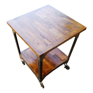 Industrial Rolling Side Table
