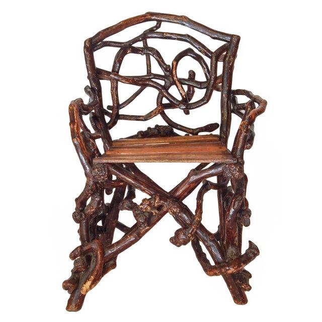 Unusual twig armchair