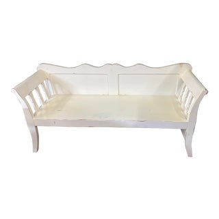 Late 20th Century White Swedish Settee For Sale
