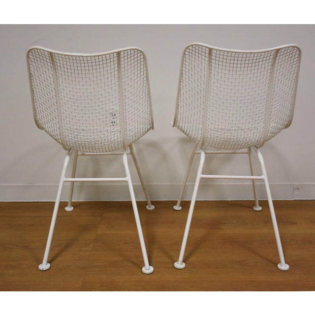 Russell Woodard 'Sculptura' White Patio Dining Chairs- Set of 4 - Image 5 of 7