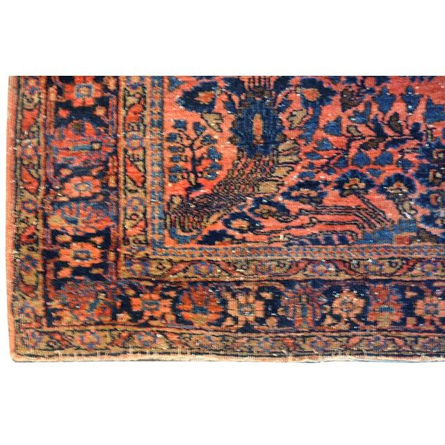 "Antique Persian Pink Sarouk Rug - 3'5"" x 4'10"" - Image 3 of 3"
