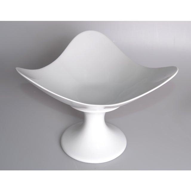 Original white Porcelain Pedestal Fruit Stand / Bowl by Rosenthal Studio Linie. Marked underneath.
