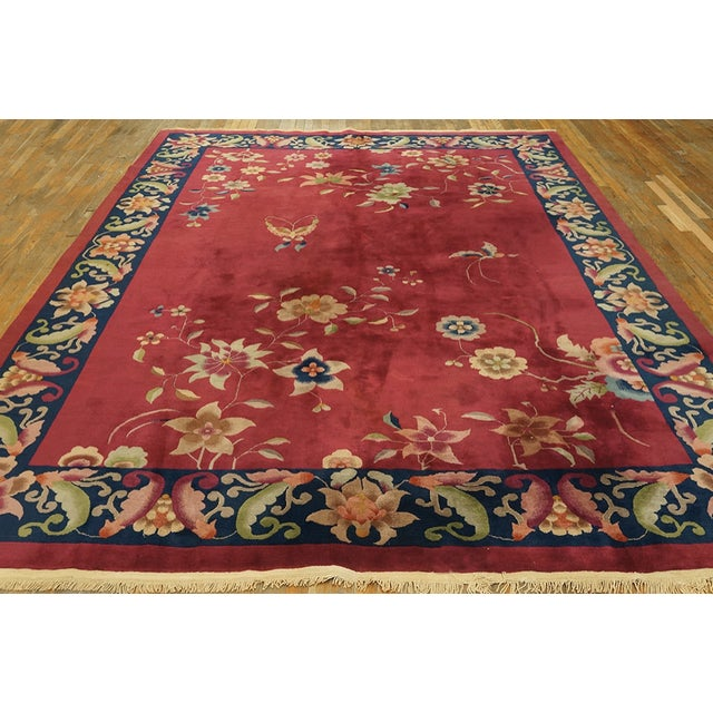 1920s Antique Chinese Art Deco Rug For Sale - Image 5 of 7