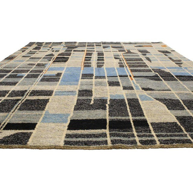 Abstract Contemporary Moroccan Style Rug with Modern Design For Sale - Image 3 of 5