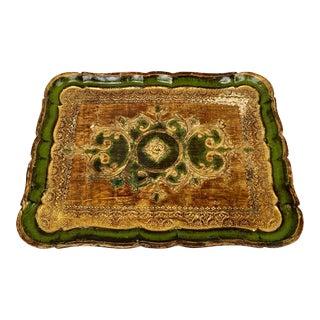 Vintage Italian Florentine Tray For Sale