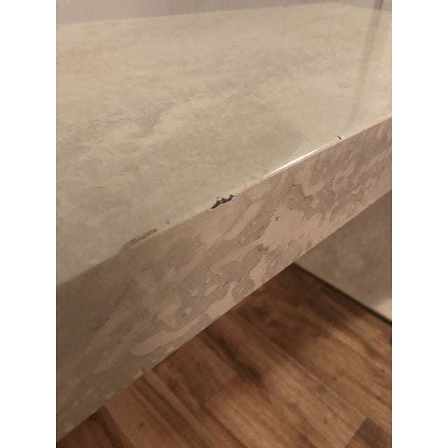 White 1970s Contemporary Lacquered Waterfall Console Table For Sale - Image 8 of 13