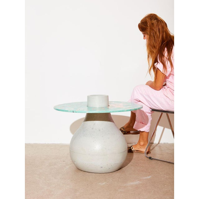 Concrete table that can be used as a coffee table or side table to add pizzazz to any space. The nature of the material...